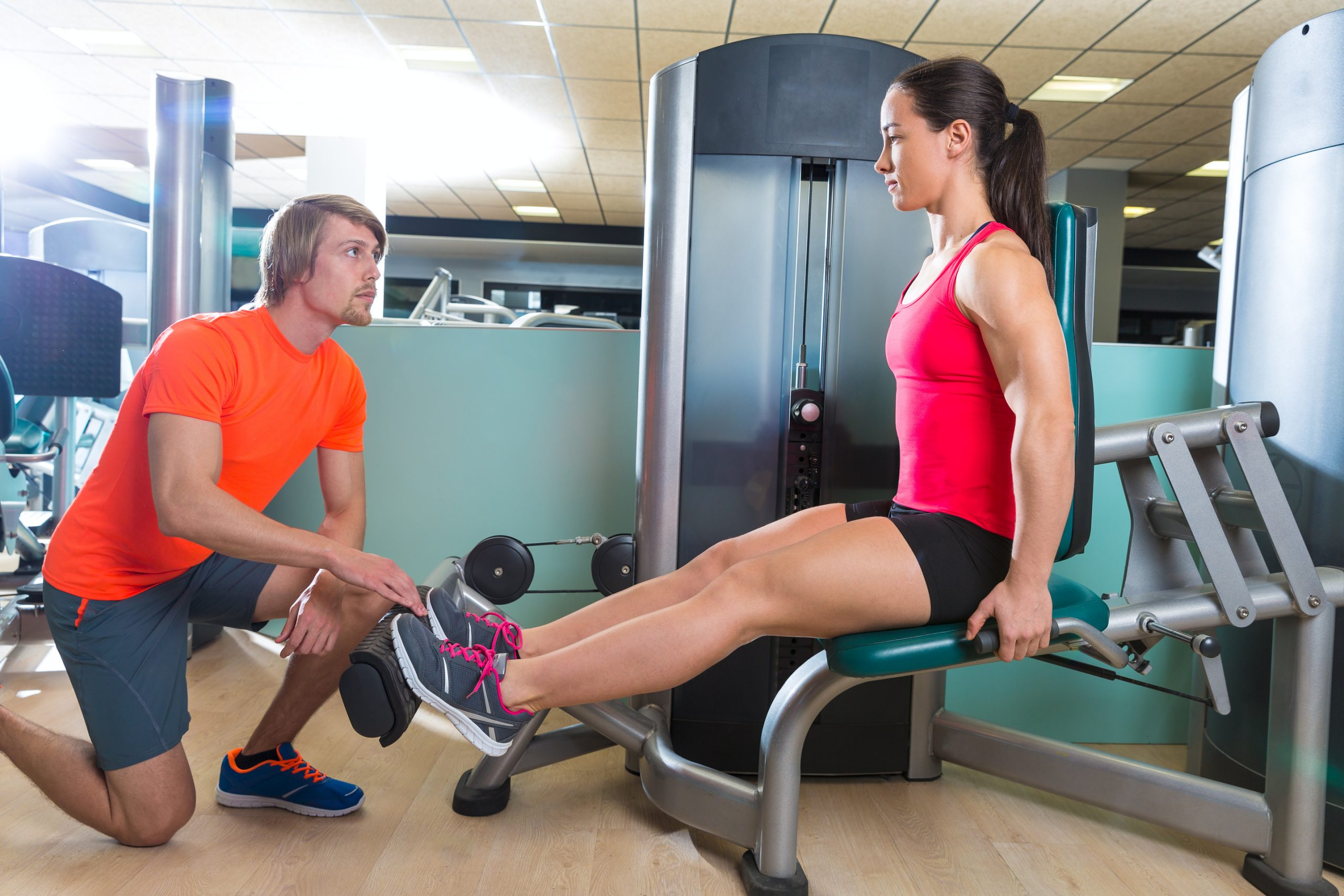 specialstrong-trainer and his client