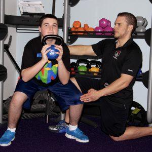 adaptive fitness kettlebell course